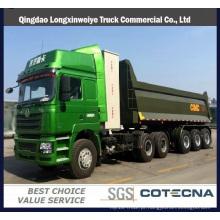 Reboque de caminhão basculante dianteiro resistente do caminhão do camião basculante dos Tri-Eixos semi