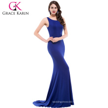 Blue Sexy Robe O-Neck Long Party Bandage Slim Mermaid Fashion Women Dress CL009648-3