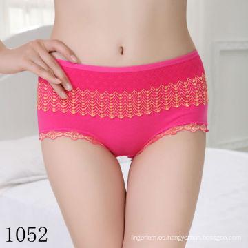 China Chicas jóvenes baratos escritos bajo un dólar Ladies Bragas mujeres ropa interior de algodón de fabricación al por mayor
