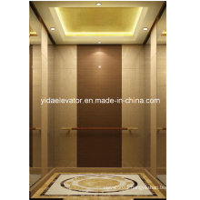 Gearless Passenger Lift with Marble and Beveled Glass Mirror