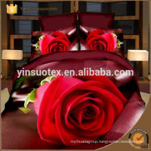 romantic love red rose disperse printed bedding set