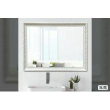 Прямоугольник 60 * 80 см заказной большой размер полистирола рама серебро зеркало настенное крепление