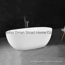 Acrylic Material White Oval Freestyling Bathtub