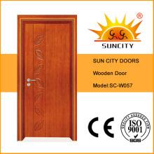 China Melhor venda folheado porta de madeira maciça (SC-W057)