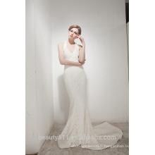 Mermaid Halter Neck Court Train avec élégante robe de mariée en dentelle AS30602