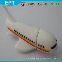 Movimentação do flash de USB do avião do material plástico de USB 2,0 para a amostra grátis