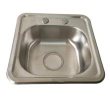 Stainless steel 1 hole deep Single Bowl kitchen sink rectangular shape stainless steel single bowl sink