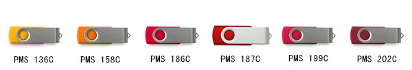 different colors usb flash drive