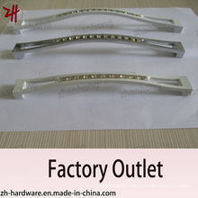 Factory Direct Sale Zinc Alloy Cabinet Handle with Diamond (ZH-1157)
