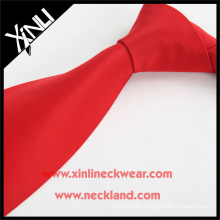 Trockenreinigung Nur Jacquard Woven Günstige Großhandel Krawatten Solid Red Polyester