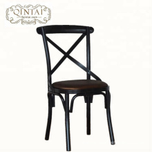 Wholesale China Alibaba furniture dining cafe snack bar bistro cross X back metal chair