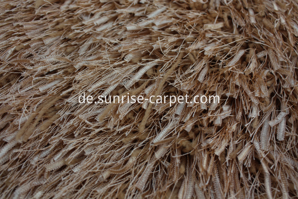 polyester shaggy with strip and elistic yarn