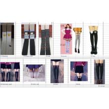 2015 Japan Asia fashion new design High False splicing socks stocking tube for sex leg