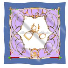 Bufanda clásica preferida de las mujeres y estilo de la cadena Bufanda cuadrada