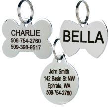 Custom Blank Name ID Dog Tags Metal Aluminium Engraved Custom Logo Stainless Steel Blank Dog Tag