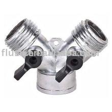 Zinc Y connector with valve