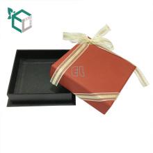 2017 Custom Logo Printed Paper Cardboard Storage Jewelry Box Bracelet Box with ribbon
