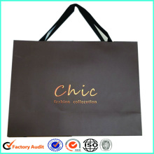 Print Logo Paper Shopping Bag Ruban Poignée