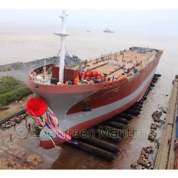 Sacos de ar de lançamento aprovados do navio da alta qualidade do ISO, navio que lança airbags marinhos