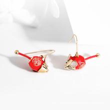 Foray Mouse Red Earrings Cute Small Simple Earrings Sprout 2020 New Trendy Ear Hook Women's Earrings