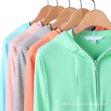 Ladies Thin Style Hooded Sweat Shirt for Season Spring and Autumn