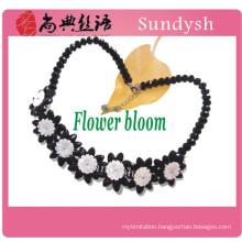 chunky bib trendy simple collar antique beaded victorian big statement wholesale black ribbon diamond choker necklace 2014