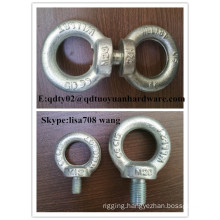 High Strength Carbon Steel Drop Forged Galvanized Lifting DIN582 Eye Bolt