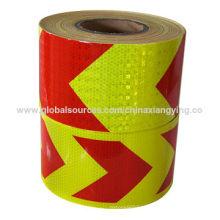 Красные и желтые соты дизайн большой Стрела светоотражающие ленты безопасности
