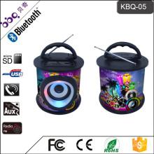 Équipement audio professionnel de haut-parleur de musique de Bluetooth Avec 9 conceptions colorées de couleur de mode