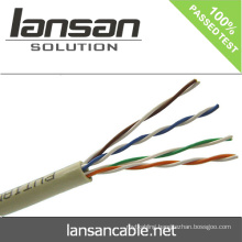 Lansan Cat5e cable networking cable UTP 4P*24AWG 0.50mm BC past 90m fluke permanent link test