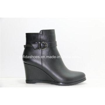 Sexy High Heel Wedges Fashion Leather Women Boots