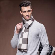 Lenço xadrez padrão verificado inverno lã tecidos masculinos (yky4609)