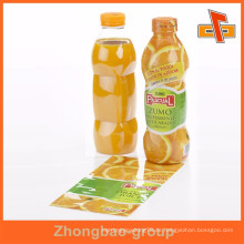 Gravuring Druck PVC klar Kunststoff Fruchtsaft Flasche Etikettenhülle