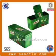 Lata de estaño de grado alimentario / Caja de estaño rectangular / Lata de estaño de galletas
