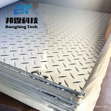 Aluminum 80x45 Aluminum Plate Making Checker Floor Sheet Bus Use Aluminum Tread Plate