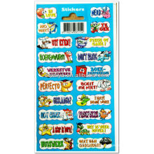 cartoon characters offset printing paper stickers