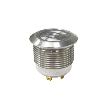 Interruptor pulsador de metal corto IP 67 de 19 mm