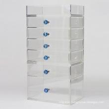 7 Tier Handmade Diamond Handle Large Cosmetic Drawer Clear Acrylic Makeup Organizer