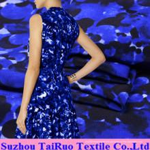 Tela de seda impressa Digitas de Crepe De Chine da espessura de 16mm