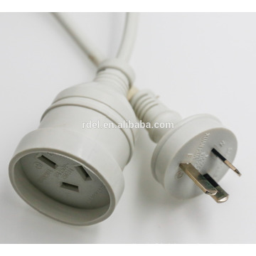 Australian power cord SAA Power Cords 2 Non-wirable SAA plug with cable