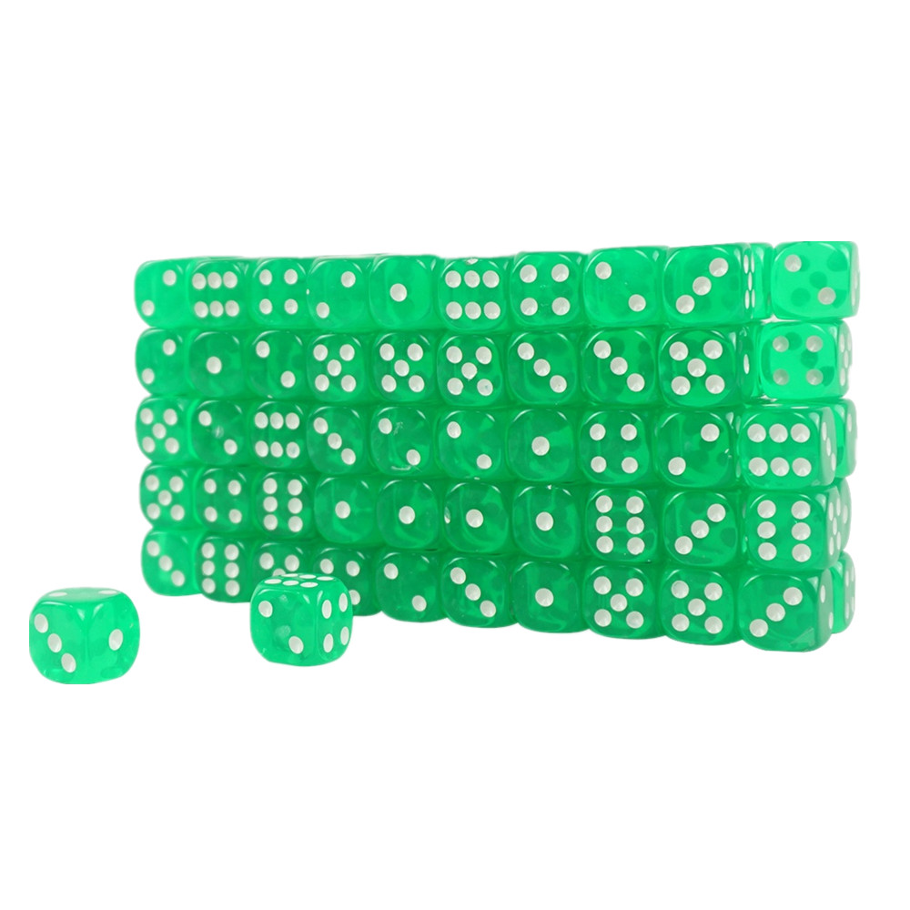 High Quality Acrylic Transparent Casino Dice Green