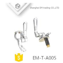 EM-T-A005 Haute qualité doux fermer Inoxydable siège de toilette en acier inoxydable charnières