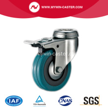 65mm Bolt Hole Grey Rubber Caster mit Bremse