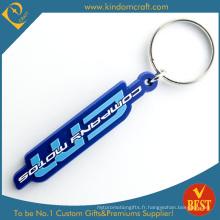 Porte-clés en PVC de publicité de marque de moteur en gros adaptée aux besoins du client en qualité de Chine