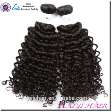 Cuticed Aligned 8A 9A 10A Remy Peruvian Hair Double Weft Curly Raw Human Hair Weft
