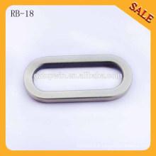 RB18 Sacoche à main en cuir bracelet en alliage de zinc boucle métallique Boucle ovale en forme de boucle