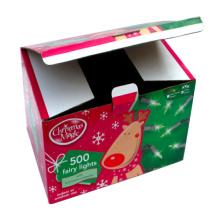 Regalo de papel de Navidad para el embalaje de las luces de hadas