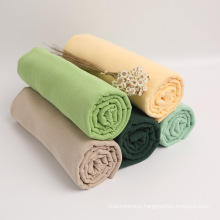Multicolor Optional Baby Gauze Cotton Muslin Double Crepe Fabric For Swaddle Blanket