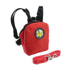 4 in 1 pet dog backpack harness and leash set soft webbing dog harness