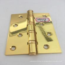Fabricação de chapa de metal furo reto polimento de ferro dourado dobradiça da porta